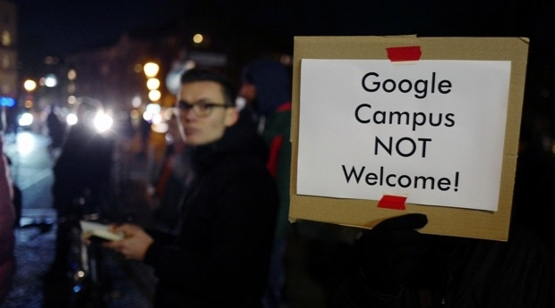 In December 2017, protesters in Berlin registered their displeasure with Google's plans.