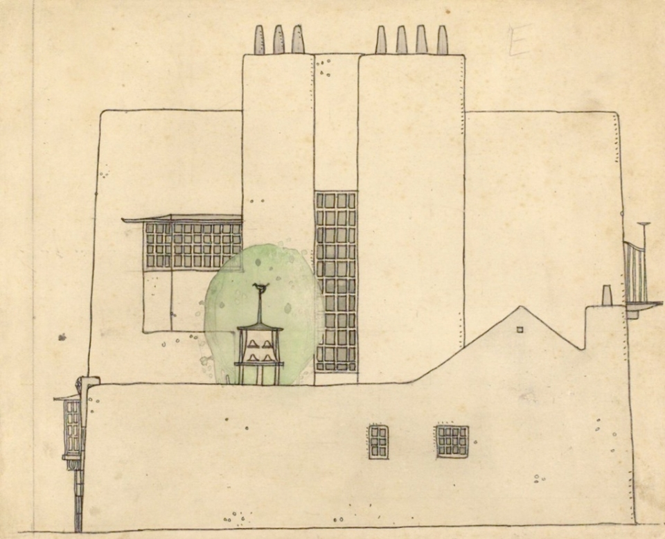 Mackintosh's 'ideal house' designed in 1899-1900, and never built.