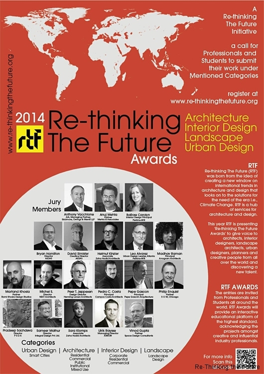 Re-Thinking the Future 2014 Awards Poster