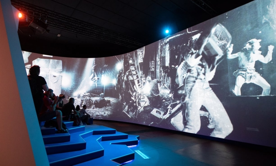 Multimedia displays take visitors back to the Berlin of the 1990s.