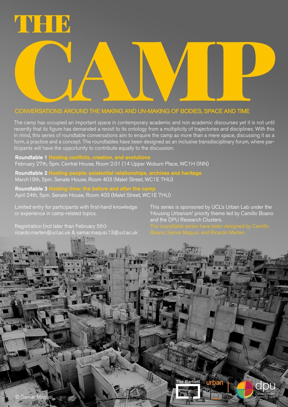 THE CAMP: Conversations around the making and un-making of bodies, space and time