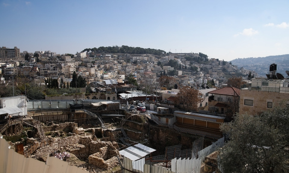 A general view of Silwan in East Jerusalem where the government provides tours of the ruins