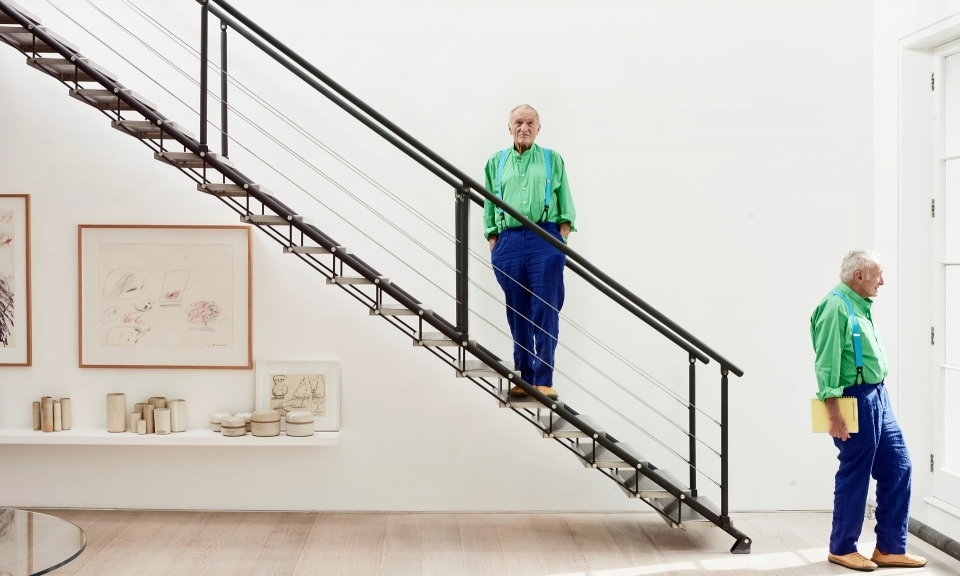 Richard Rogers photographed at home in west London for the Observer New Review