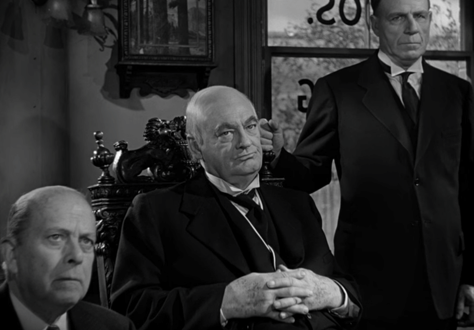 Lionel Barrymore as Mr. Potter, evil developer, in Frank Capra's 'It's a Wonderful Life' (1946)