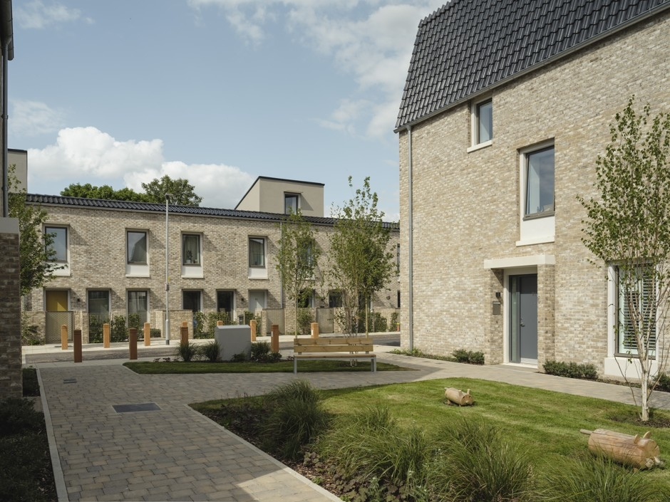 Goldsmith Street, a development of 105 homes for Norwich City Council, designed by Mikhail Riches.