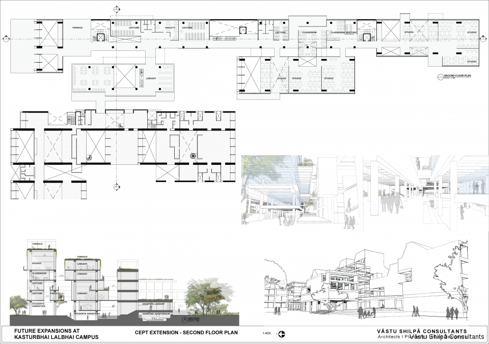 CEPT EXTENSION - SECOND FLOOR PLAN