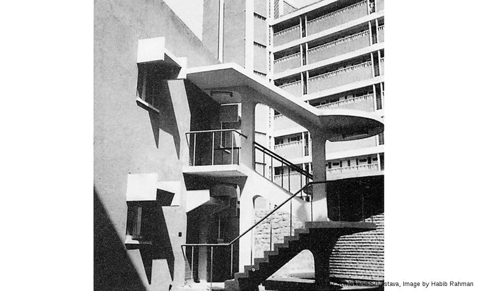 Shopping Complex, Curzon Road Hostels, 1969