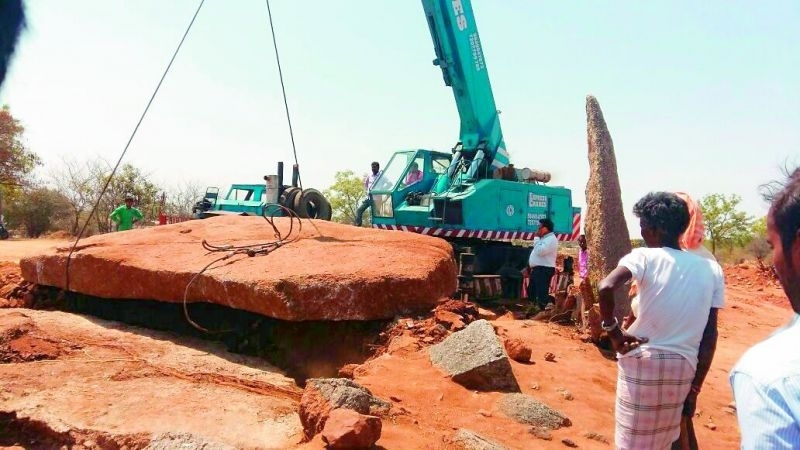Largest capstone unearthed in South India | Aζ South Asia