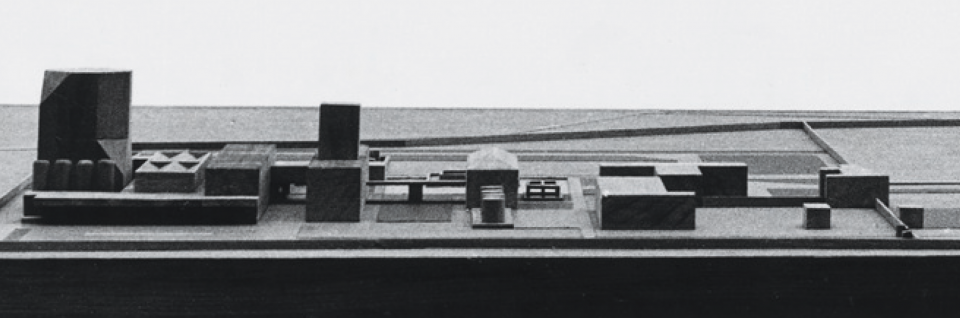 Banas Dairy, model 'elevation' view