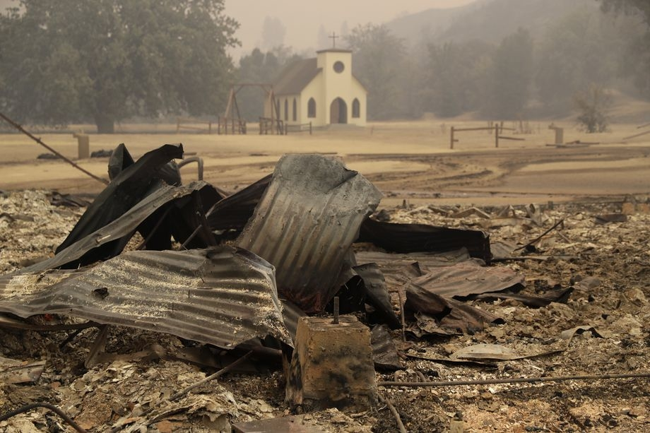 Paramount Ranch, where a number of Hollywood westerns have been filmed, is seen after it was decimated by fire.
