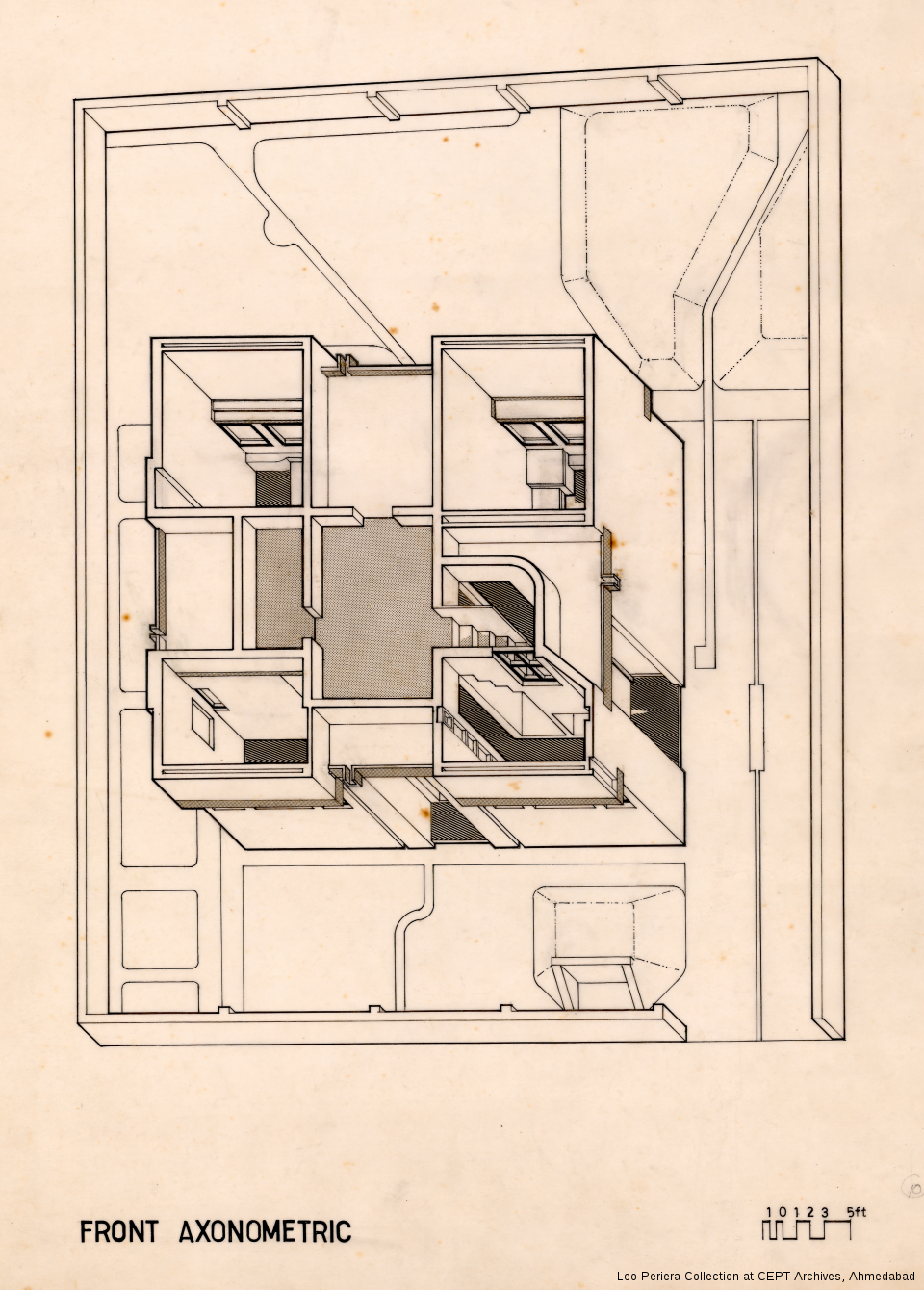Front Axonometric, Leo Pereria, Architect's Own House