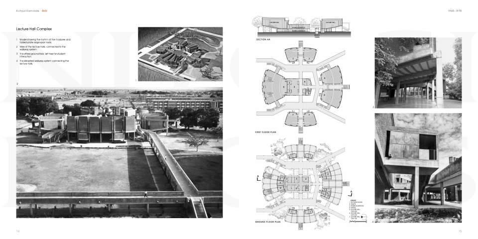 "pp. 74-74, ""1960-1970, Indian Institute of Technology, Kanpur (Phase I), Lecture Hall Complex"""