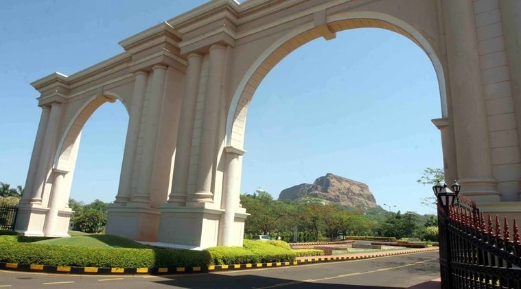 Construction of 'entry gates' to religious places, housing societies under state scanner The entry gate to Aamby Valley City.