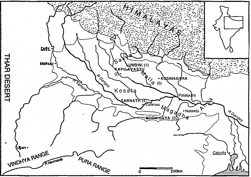 Figure 1 The Ganges river valley, home of the Buddhist tradition.