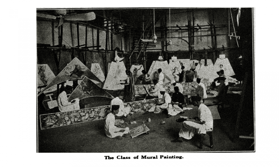 The Class of Mural Painting