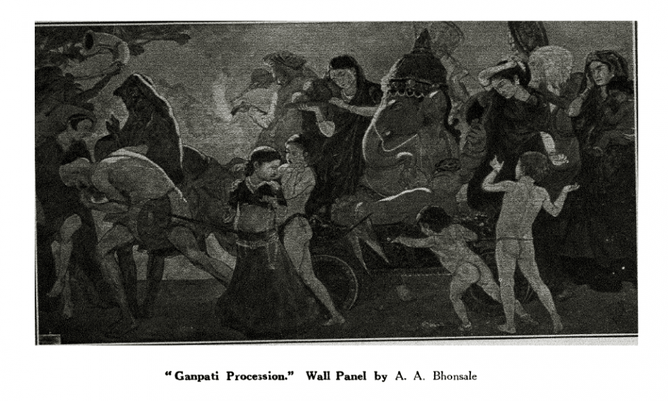 Ganapati Procession - Wall Panel by A.A. Bhonsale