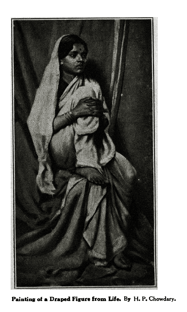 'Painting of a Draped Figure from Life* By H. P. Chowdary.