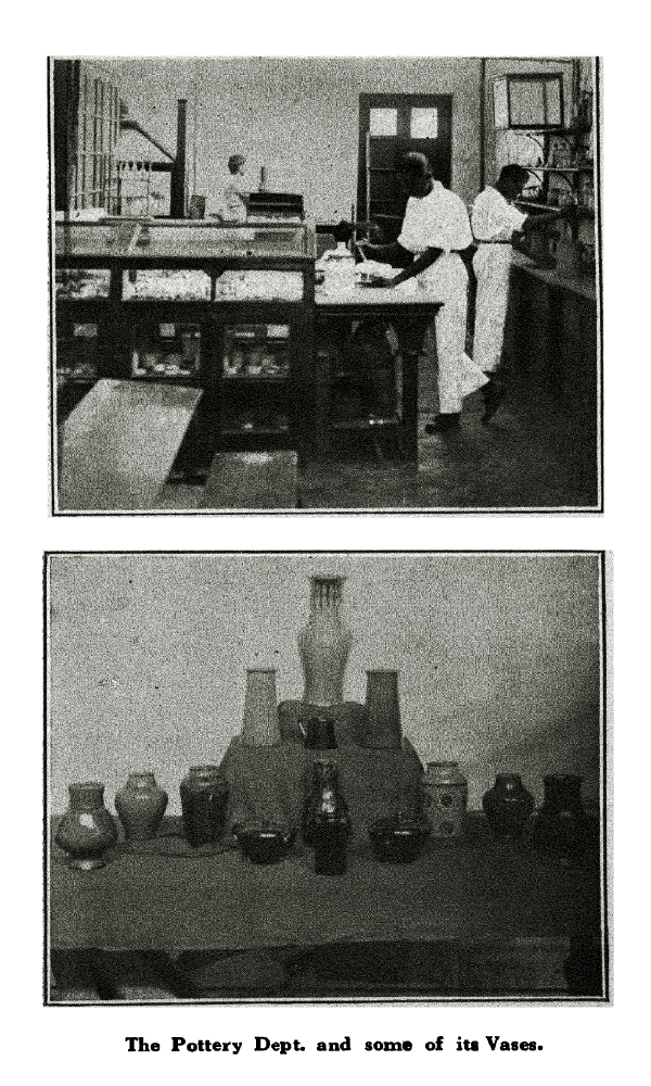 The Pottery Dept. and some of its Vases