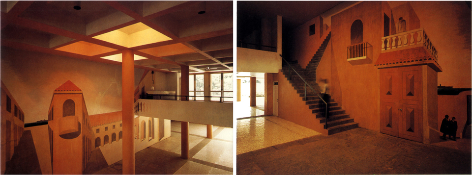 Real, and imaginary elements, the illusion continues in the entrance foyer