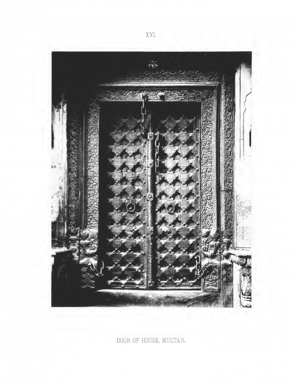 PLATE XVI. DOOR OF HOUSE, MULTAN.
