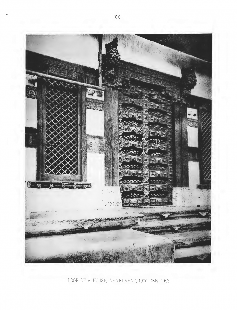 PLATE XXI. DOOR OF A HOUSE AT AHMEDABAD, 19TH CENTURY.