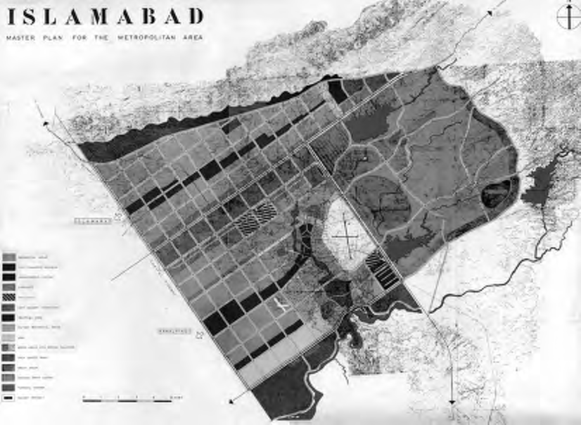 Doxiadis's final master plan for Islamabad, 1960.
