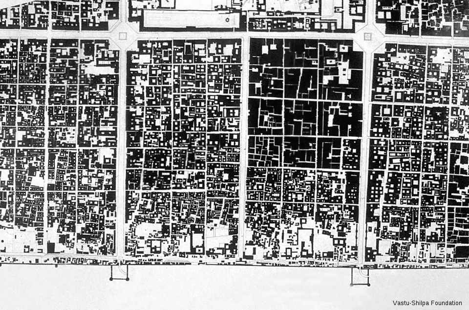 Part figure-ground of a city sector