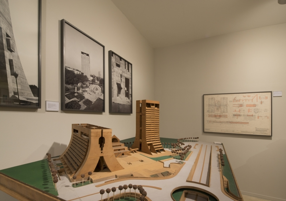 A model of the NDMC building displayed at the Kiran Nadar museum