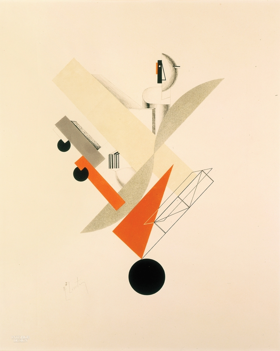 El Lissitzky's concept for the opera Victory Over the Sun, 1923, is appearing at the Design Museum, London.