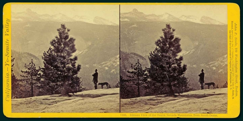 Stereograph of the Sierra Nevada, by John P. Soule, circa 1870.