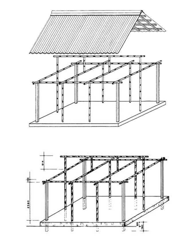 Structural system of basic units.