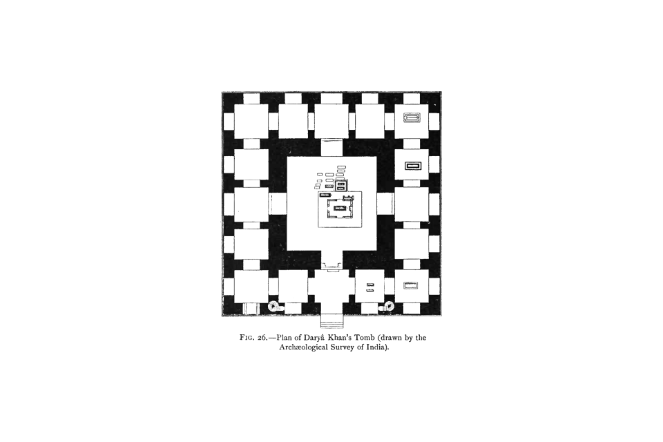 26. Plan of Daryâ Khan's Tomb (drawn by the Archaeological Survey of India).