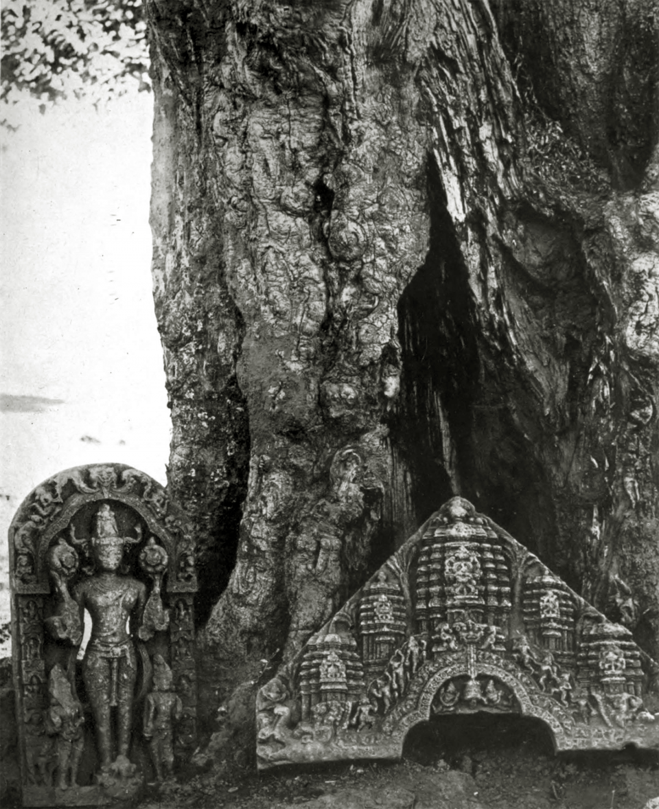 XXXIV. Stones from ruined temples, Manbhum district, Bengal.