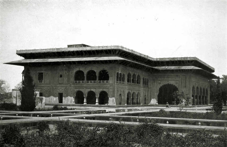 CVII. The palace of Dîg: garden front.