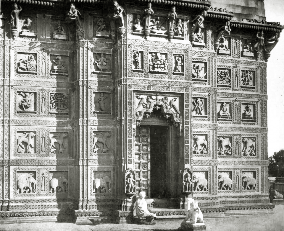 CXIX. Modern Indian sculpture (Temple at Ramnagar, Benares).