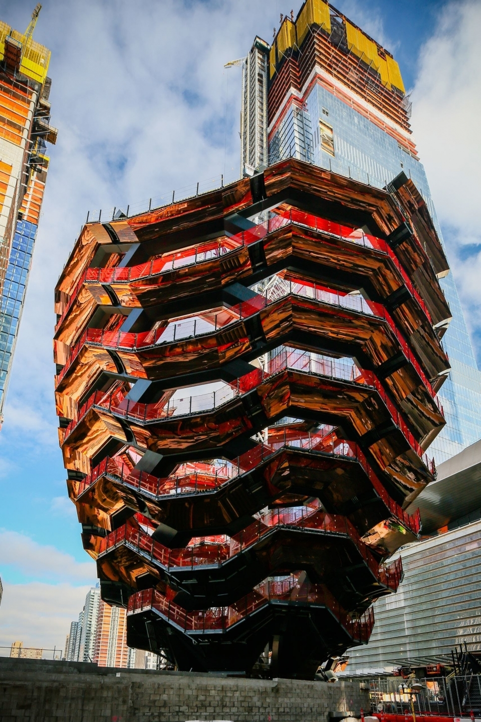 The Vessel, under construction at Hudson Yards
