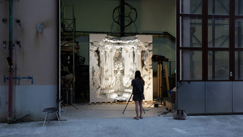 Digital Grotesque – 3D printed Architecture – grotto test assembly at ETH Zurich