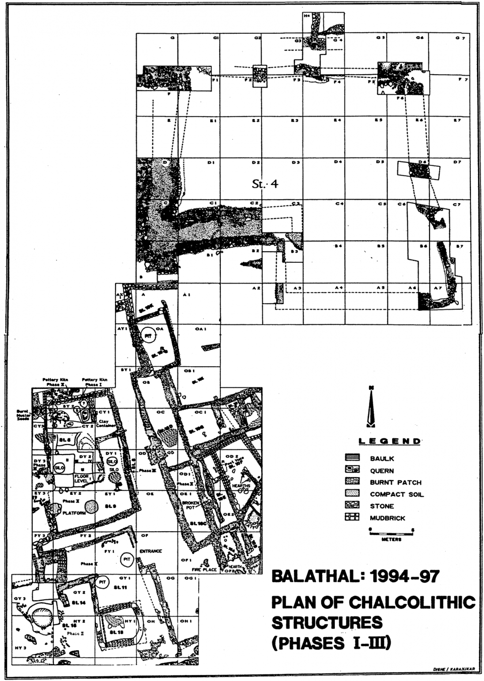 Figure 2. Plan view of the Chalcolithic occupation at the site of Balathal.