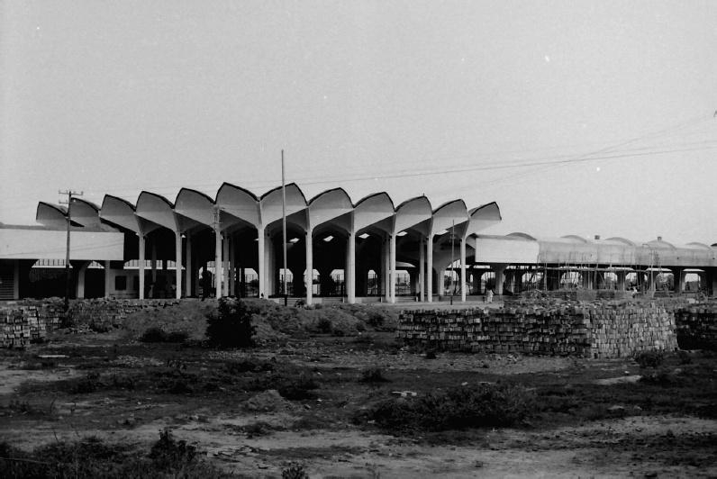 A post-construction photo of Kamalapur Railway Station by one of its designers, Daniel Dunham.