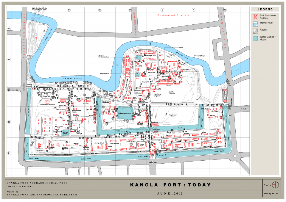 Drawing 04: Kangla Fort Today