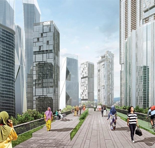 Manhattan's High Line is one inspiration for the planned development of Kampung Baru.