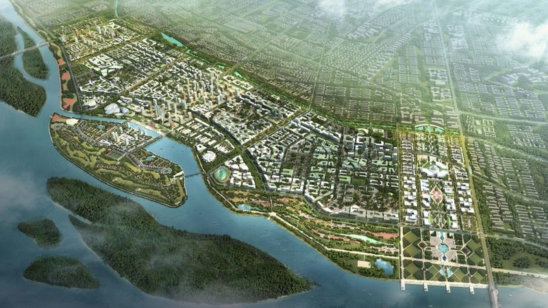 The new Indian city of Amaravati, as envisioned by its Singaporean designers.