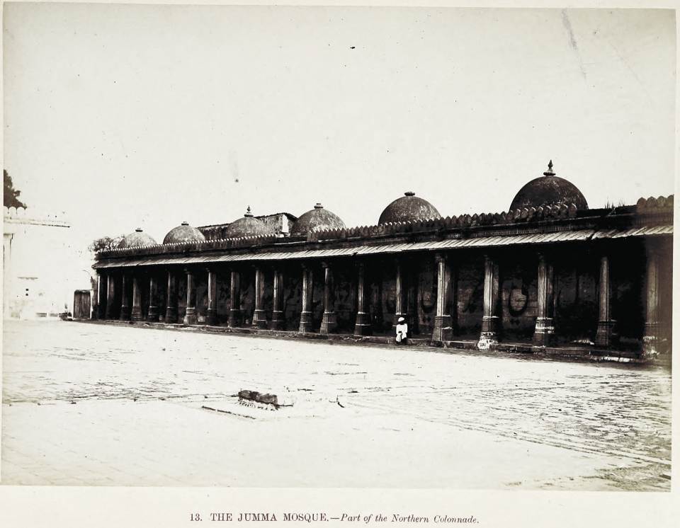 13. The Jumma Mosque. — Part of the Southern Colonnade.