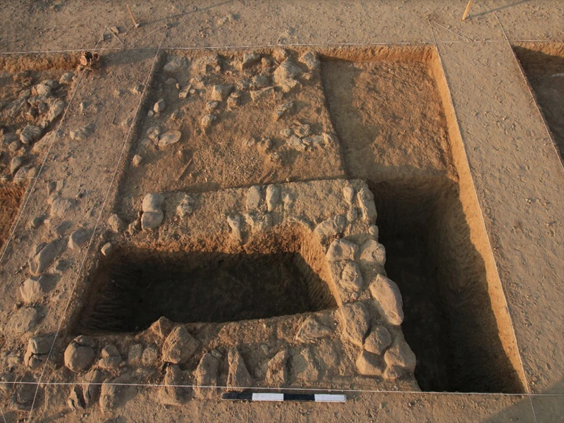 Archaeologists say the structure found suggests a cemetery and the stones strongly indicate the presence of over 100 burial sites in the area.