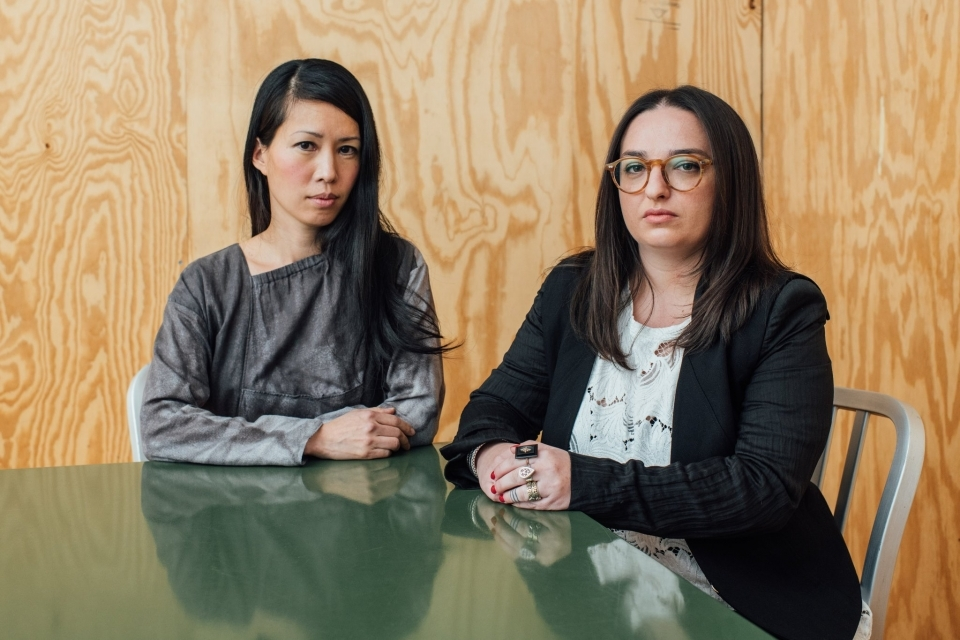 Stella Lee, left, and Alexis Zamlich, two of the women who have complained that they were sexually harassed by Richard Meier