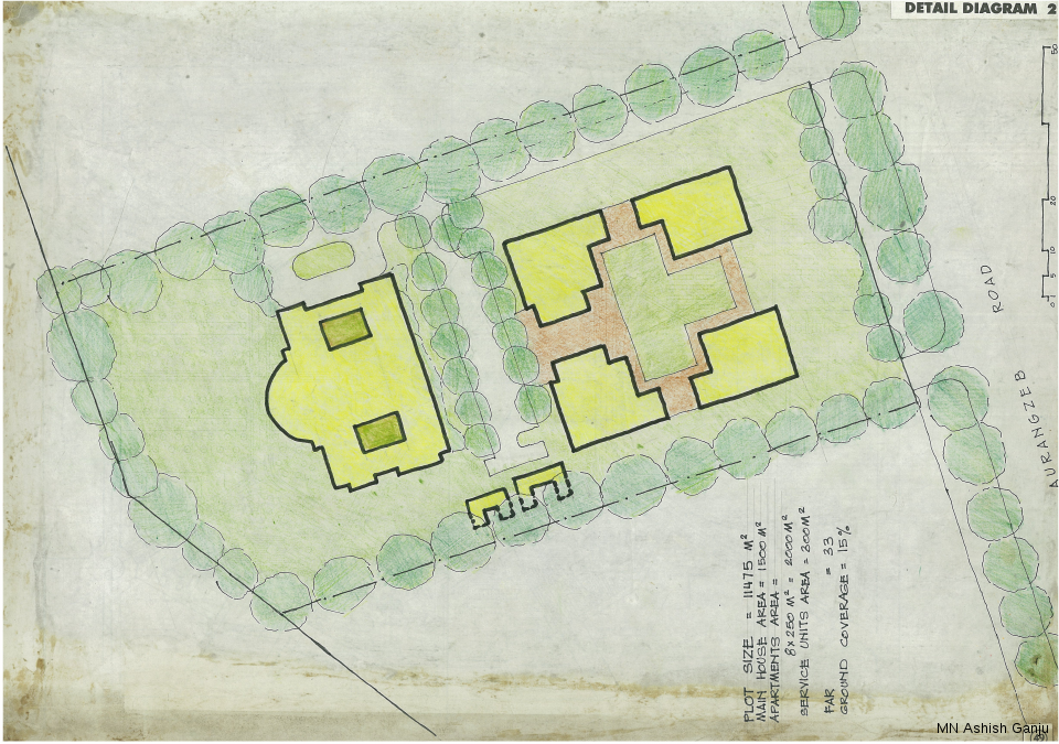 Detail Diagram 2 – examines a redevelopment option on a typical privately leased plot