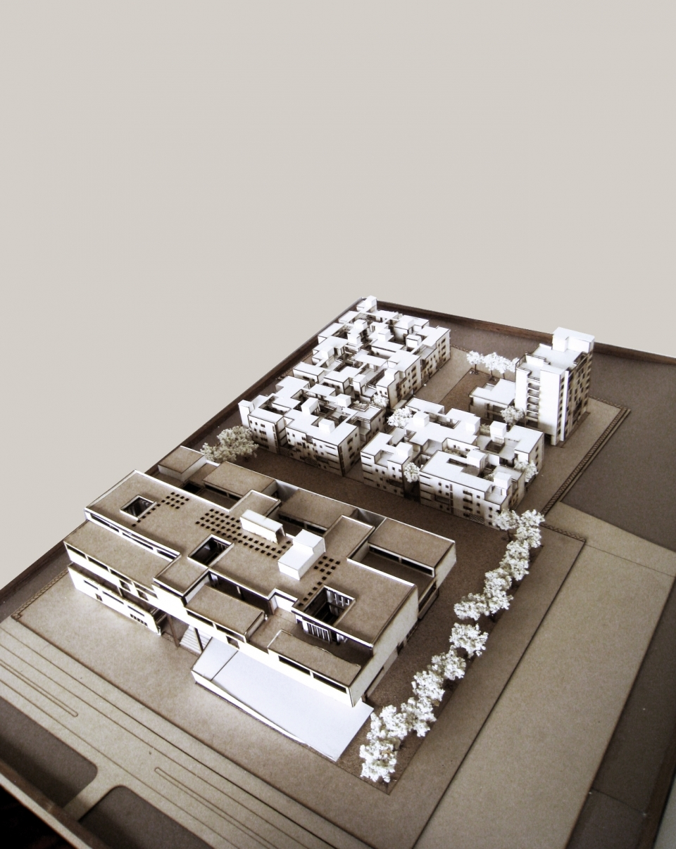 Model of the campus masterplan