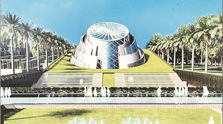 An artist's impression of the upcoming museum at Teen Murti complex