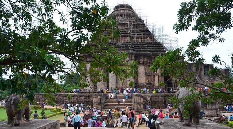 Built in the 13th century, the Konark Sun temple in Puri district is modelled as a solar chariot