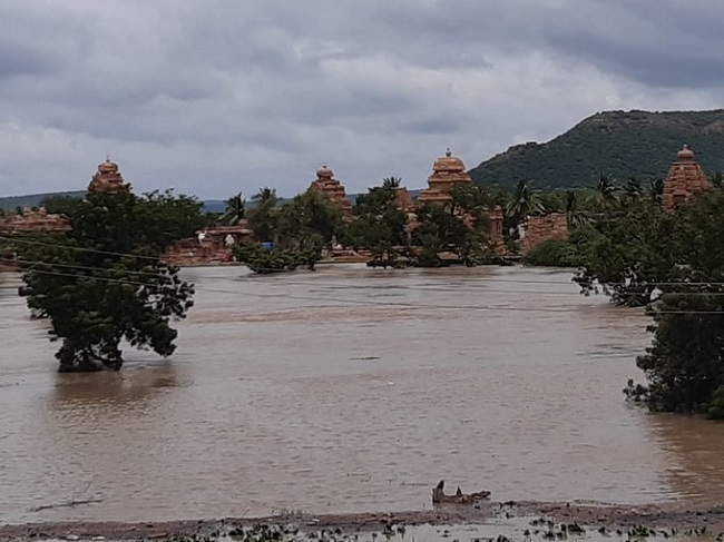 Bagalakot Deputy Commissioner Ramachandran says that the waterlogging at the heritage sites is dangerous if the situation persists as the water could erode the rocks used to build the temple